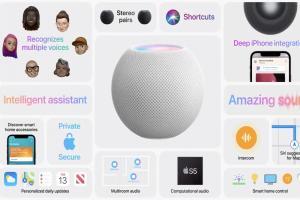 (影)蘋果 HomePod mini 智慧音箱登場!售價僅前代三分之一