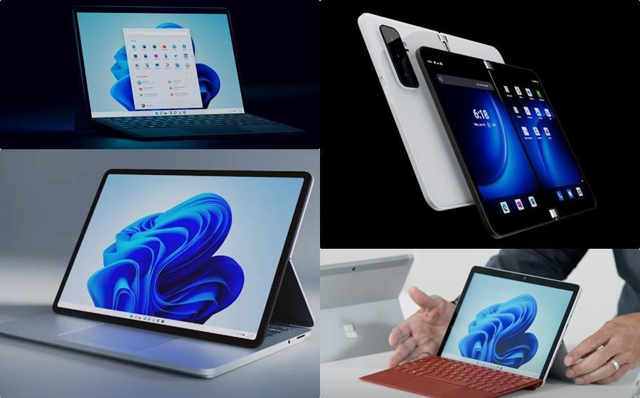 微軟首款5G雙螢幕手機登場!3款「二合一」Surface筆電新品齊亮相