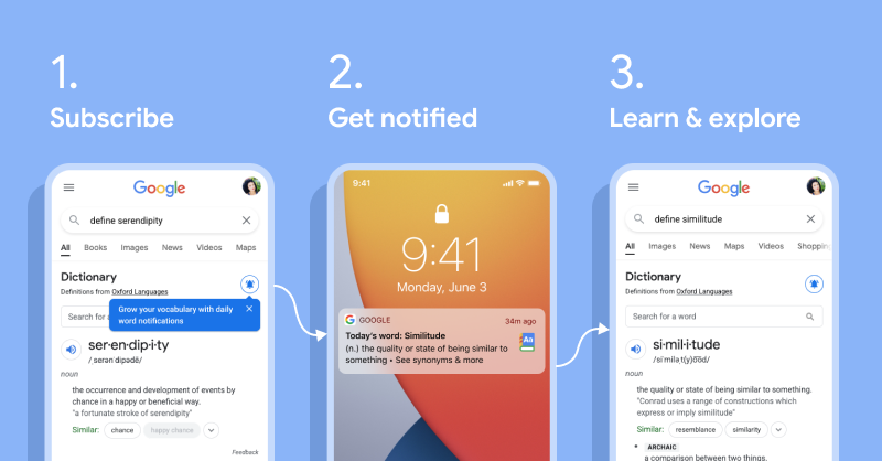 Google 搜尋成學英文小幫手!App 新增「每日一字」功能