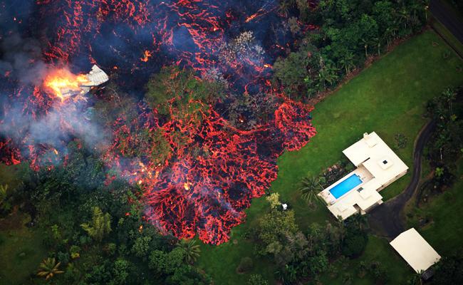 夏威夷火山噴發 熔岩吞噬21棟房