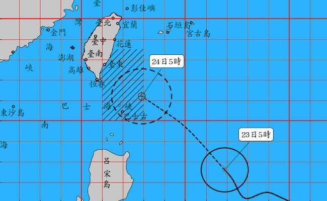 白鹿逼近 氣象局05:30發布海警