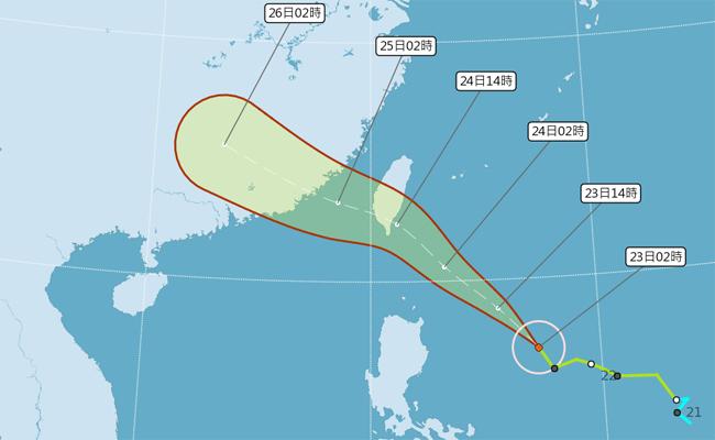 白鹿暴風圈有擴大趨勢 明天影響最鉅