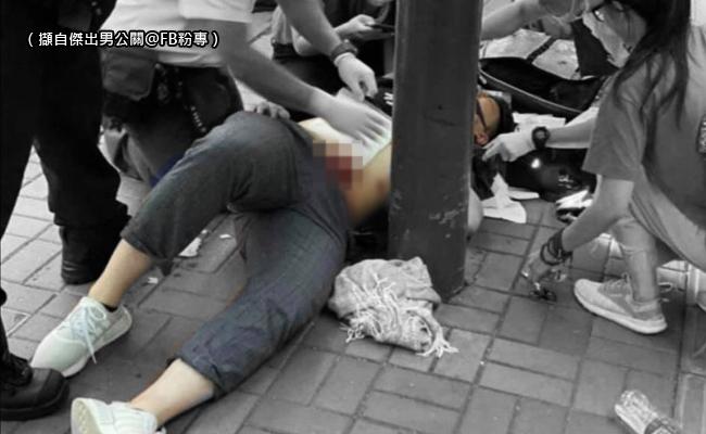港男連儂牆前遭刺 凶嫌疑持中國證件