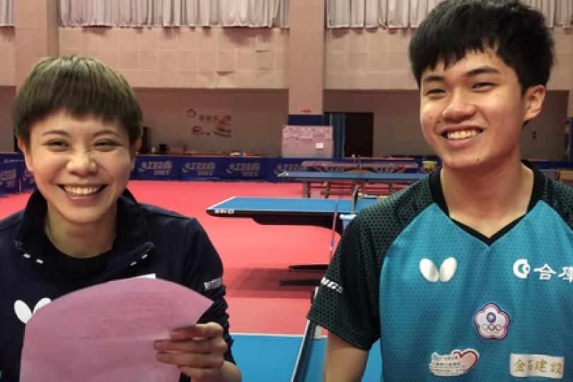 林昀儒接受ITTF專訪大撂台語 神回鄭怡靜這句