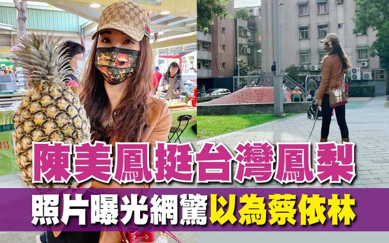 陳美鳳挺台灣鳳梨 照片曝光網驚「以為蔡依林」