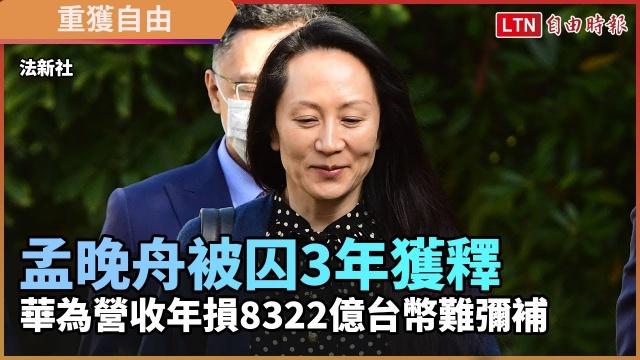 孟晚舟被囚3年獲釋 華為營收年損8322億台幣難彌補