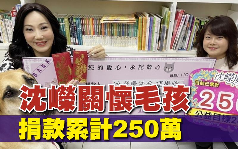 沈嶸關懷毛孩 捐款累計250萬