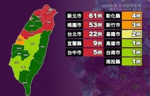 昨新增本土29例 一圖看懂確診地理分佈