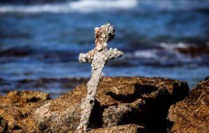 近千年十字軍配劍 在以色列海底發現