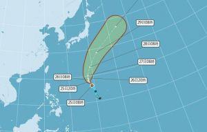 輕颱瑪瑙生成 不影響台灣天氣