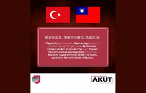 情誼深厚 土耳其搜救團發文「高雄加油」