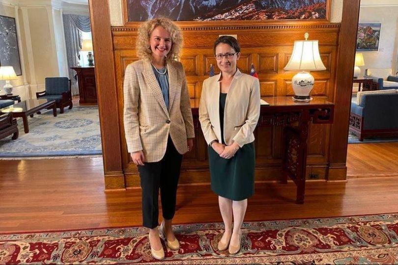 立陶宛經長會蕭美琴 期待台灣經貿團訪問