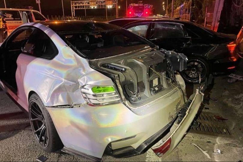 深夜競速失控釀行人2死3傷 2男聲押