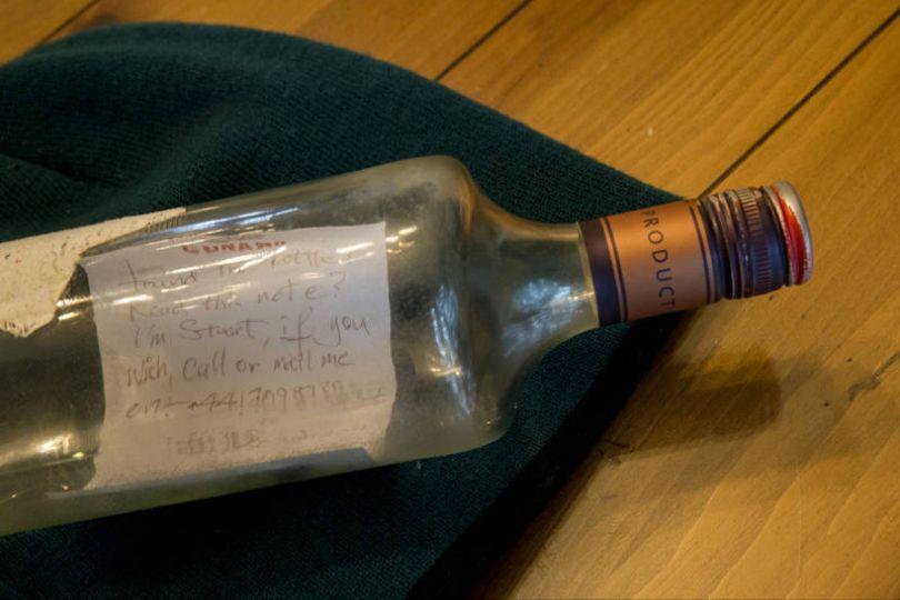 漂洋6000km 美國童撿到37年前瓶中信
