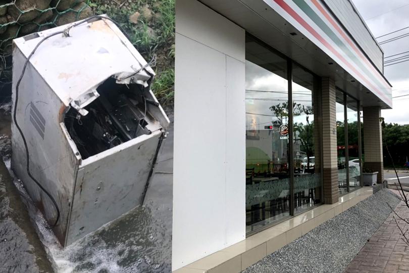 2年前整台ATM拖走 同1家超商又被搶