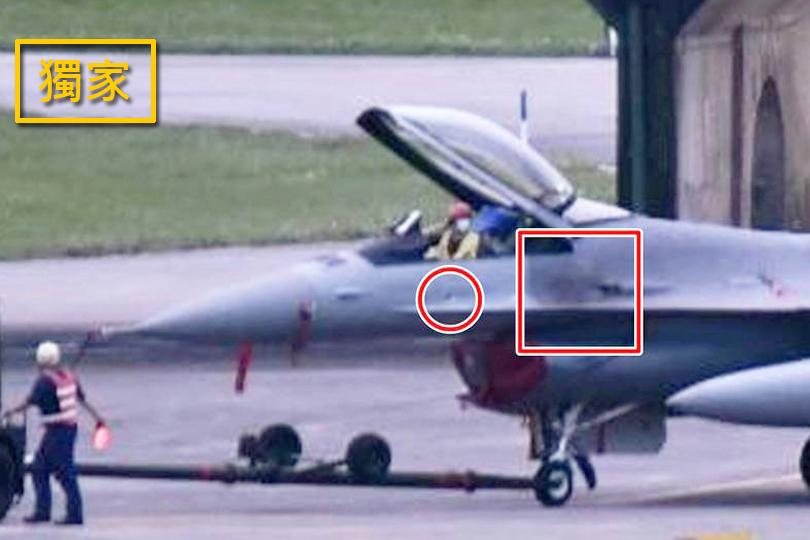 疑國造彈藥品質差 F-16擦破蒙皮