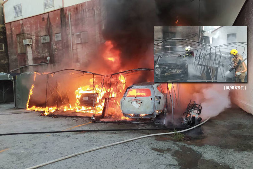 火燒車大火波及民宅!台南六甲3人獲救