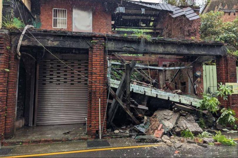 新北4級地震瑞芳老舊房屋倒塌 無人傷亡