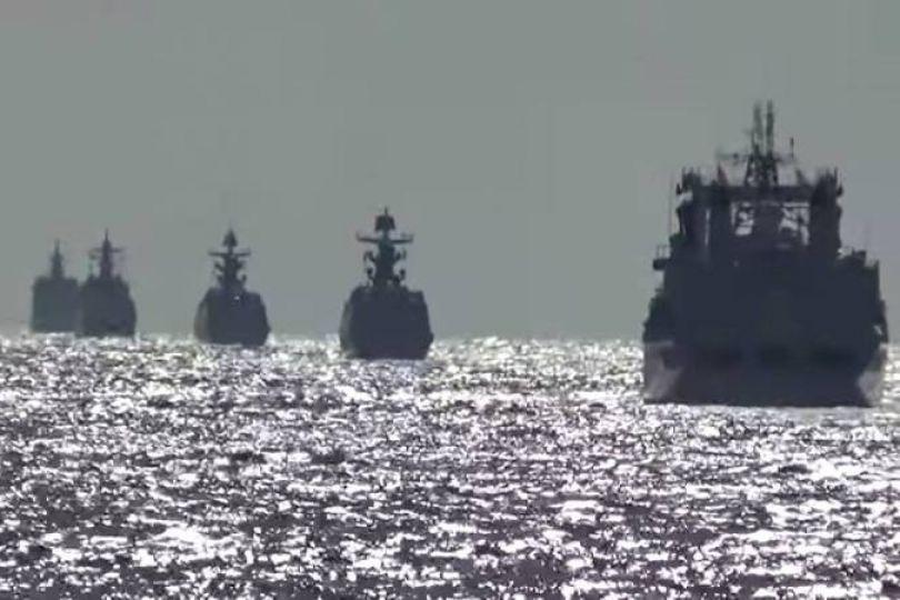 首航經大隅海峽 中俄10艦繞行日本列島