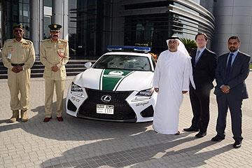 警車這麼高級!Lexus RC F 加入杜拜警用超跑行列