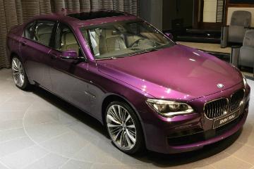 中東超特殊品味  客製化暮光紫 BMW 760Li