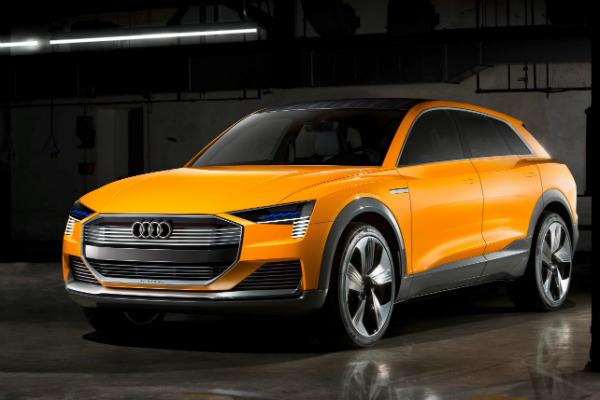 Audi 電動概念車 h-tron quattro 於 2016 北美底特律車展現身