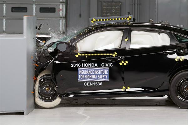 美國 IIHS 公佈 Honda Civic/Lexus RX 撞擊測試成績!