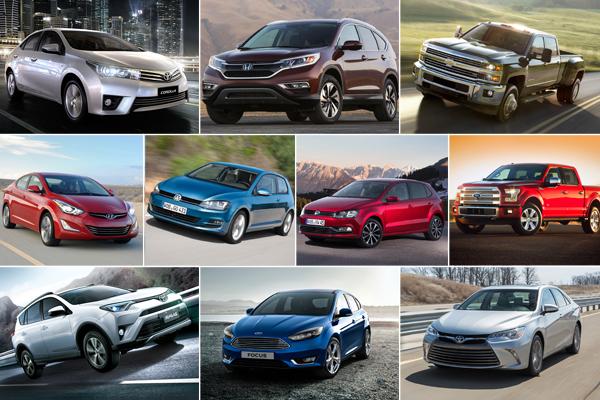 2015 年全球賣最好的 10 款車!  前三名堪稱眾望所歸!