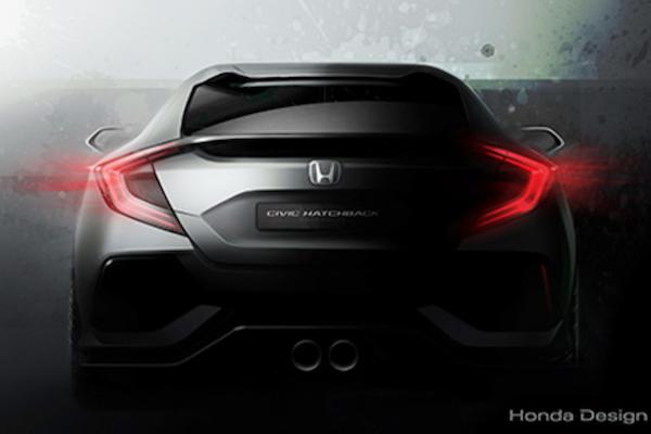 Honda Civic 10 歐規版 3 月亮相  車尾圖釋出吊胃口