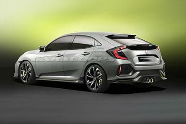 掀背版有影!  Honda Civic Hatchback 概念照網路流出