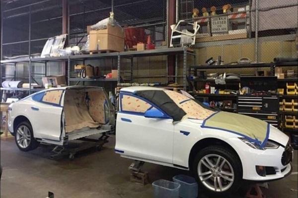 Tesla Model S 慘遭剖半 原來是想跟別人不一樣(內有影片)