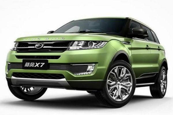 外媒狠批!  強國山寨車 Landwind 光明正大抄襲 Land Rover Evoque!
