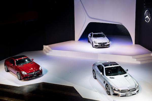 與天空零距離,M-Benz SL 硬頂敞篷雙門跑車台灣發表
