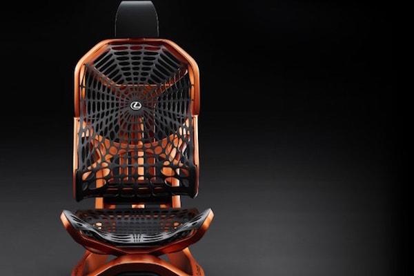 高級皮椅落伍了!Lexus 新座椅靈感來自蜘蛛網?