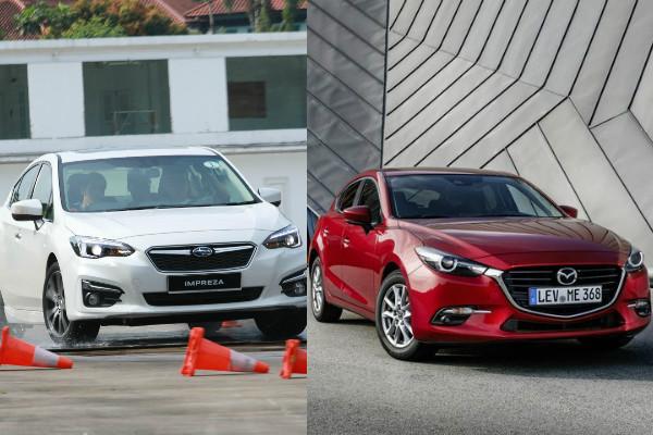 日系進口掀背車 PK!Subaru Impreza 與 Mazda 3 配備比一比!