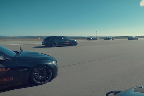 猛獸等級的 10 輛超跑直線加速賽,最後一名你絕對猜不到是誰!(內有影片)