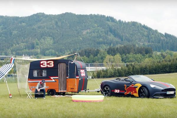F1 車手用露營拖車競速,但最搶鋒頭的卻是這一幕...(內有影片)