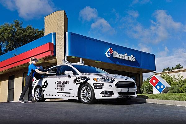 避免趕時間造成交通事故!Ford 與達美樂合作自動駕駛車外送披薩