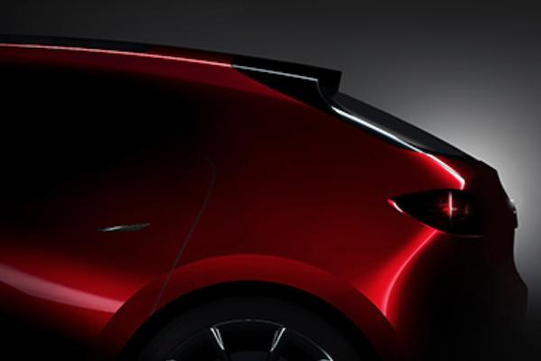 又在吊人胃口!Mazda  新一代概念車照片只露出車尾..