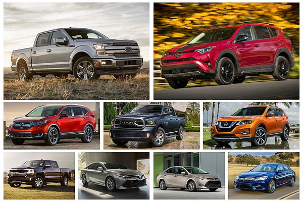 美國去年最暢銷汽車 Top 10 出爐!都會休旅排名大飆升