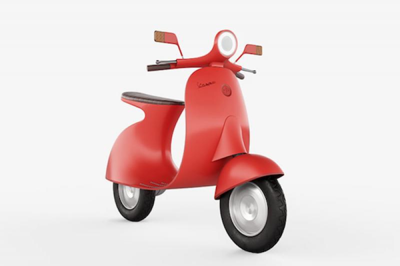 結合經典與科技的復刻版!義大利設計師繪製 Vespa 電動機車好美型