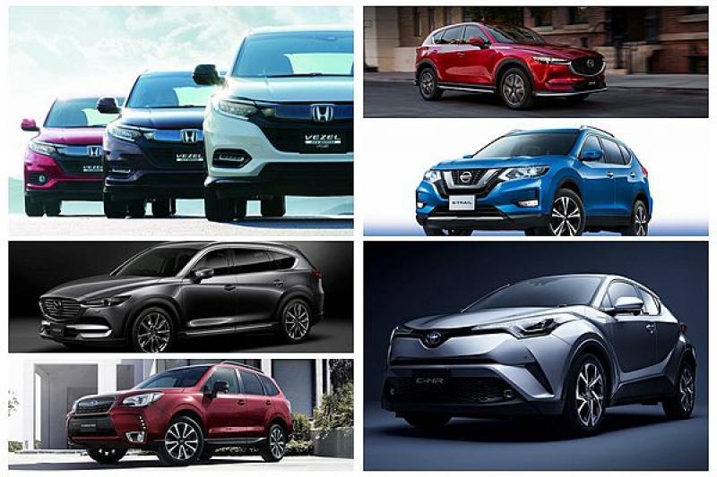 日本首季休旅銷售排名出爐,Toyota C-HR、Honda HR-V 依然是焦點!