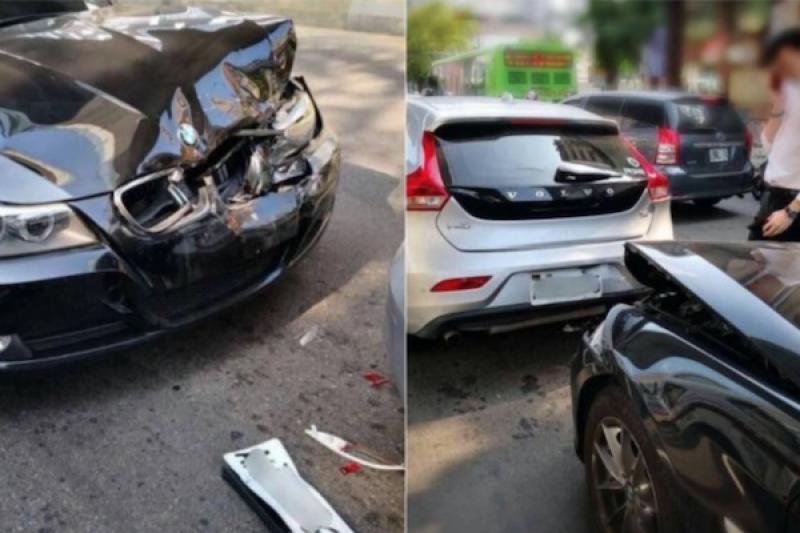 BMW 追撞「這輛車」結果 GG... 網跪:根本民間坦克