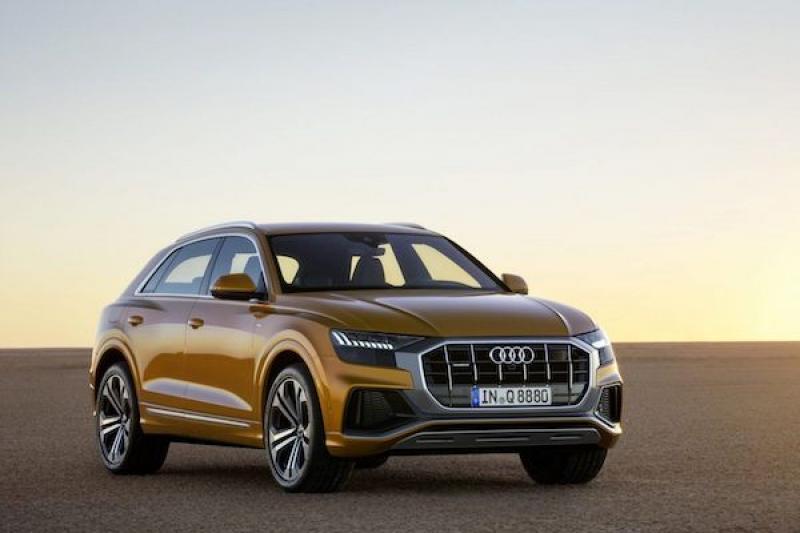 還沒正式發表,旗艦休旅 Audi Q8 廠照在網路上先都露!