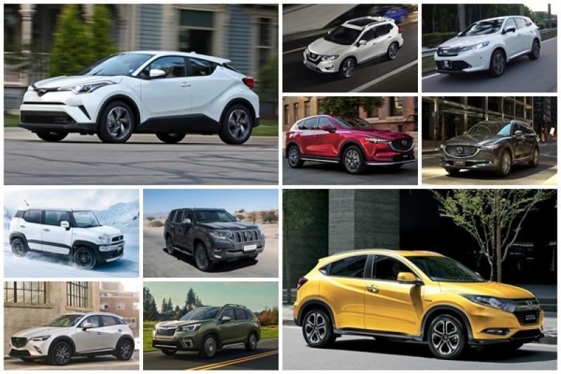 日本上半年 SUV 銷售排行榜,小型跨界休旅超熱門!