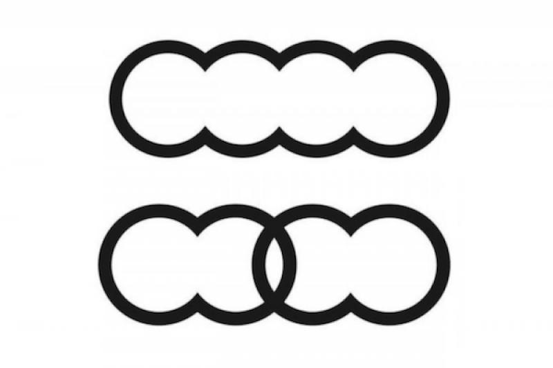 毛蟲還是毛豆?Audi 註冊最新四環標誌引發網友熱議!