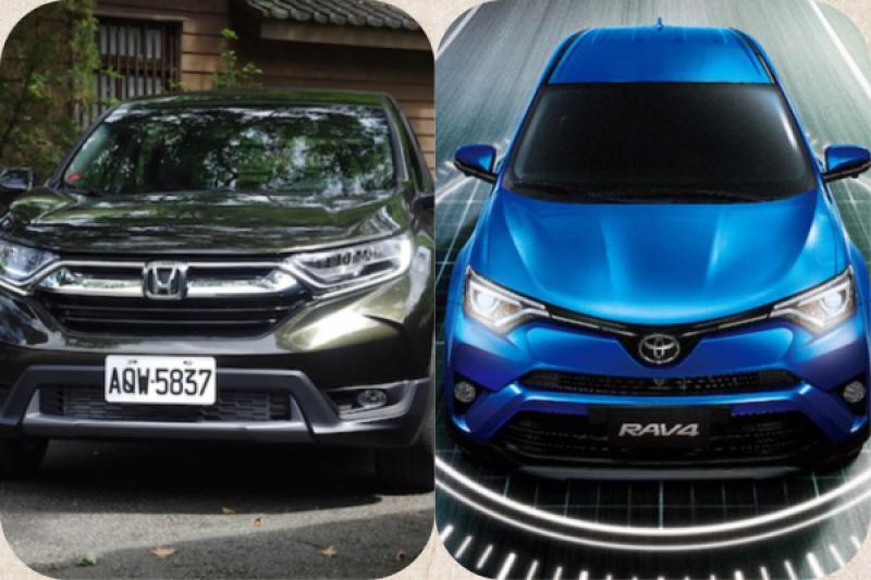 RAV4 與 CR-V 差距不到 100 輛!2018 台灣最暢銷休旅車冠軍即將揭曉