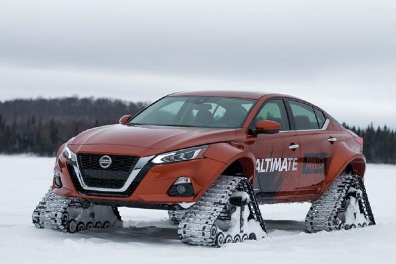 轎車也能去滑雪!Nissan 推 Altima-te AWD 履帶車(內有影片)