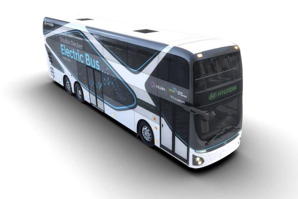 續航力達 300 公里,Hyundai 電動雙層巴士韓國首發!