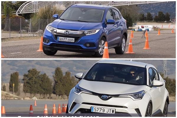 小改款 Honda HR-V 麋鹿測試成績出爐,與 Toyota C-HR 有何差異?(內有影片)